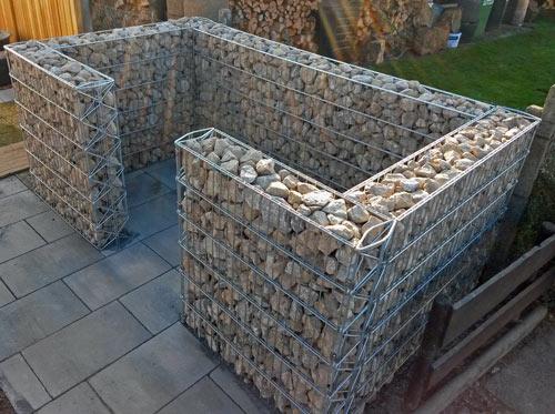 M lltonnenbox eigenkonstruktion for Gabionen gestaltung beispiel